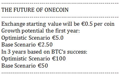 OneCoin Future Speculation_Apr 24 2015